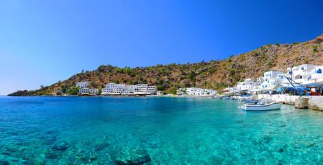 Greek village of Loutro, Crete