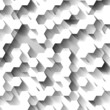 White technological background with hexagons. Eps10