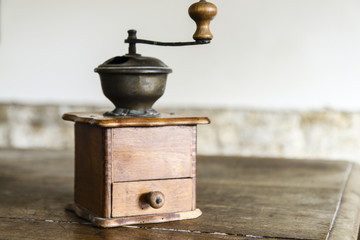 Vintage manual coffee grinder