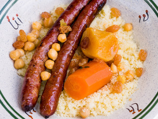 couscous salad with Sausage