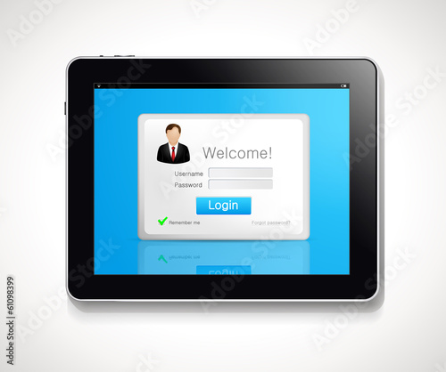 Tablet - login