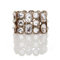 Diamond bracelet isolated on white with reflection