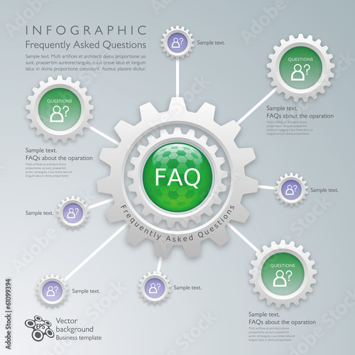 Infographics Vector Background FAQ Web Site