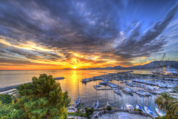 Sunrise at Palermo Harbour