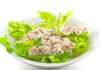 Cream Cheese Stuffed Celery
