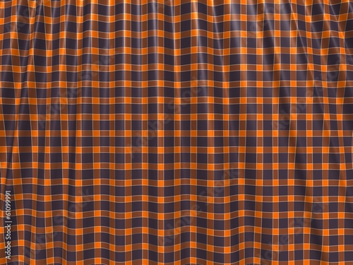 Crumpled orange and blue cloth