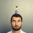woman dancing on the head of foolish man
