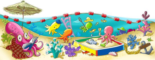 Octopus kindergarten