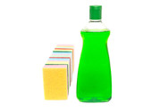 Cleaning Detergent and Sponge