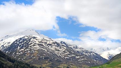 Permanent snow on alp mountains, Switserland
