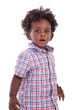 Outdoor portrait of a little african american boy - Black - chil