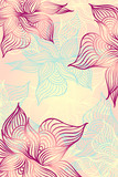 Abstract floral Background with flowers   grunge in pink color
