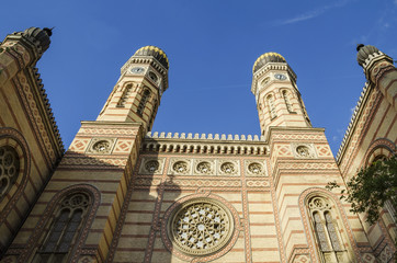 Historic synagogue in Budapest