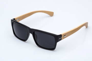 Sunglasses with wooden parts