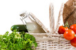 Fresh and healthy products in the basket