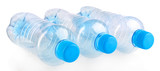 Plastic bottles isolated on white
