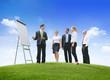Leinwandbild Motiv Outdoors Business Presentation