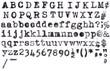 Leinwanddruck Bild - American Typewriter aplphabet on white