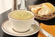 Cup of potato leek soup
