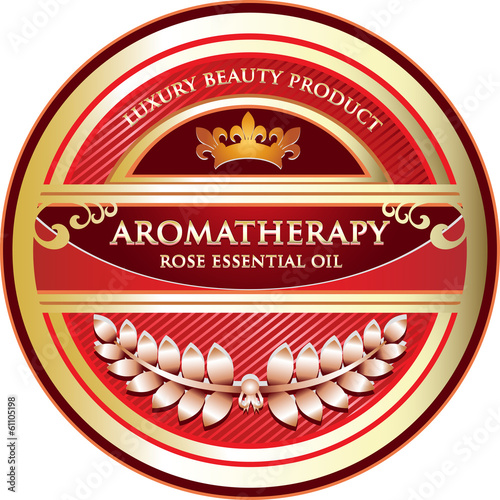 Aromatherapy - Rose Essential Oil Label
