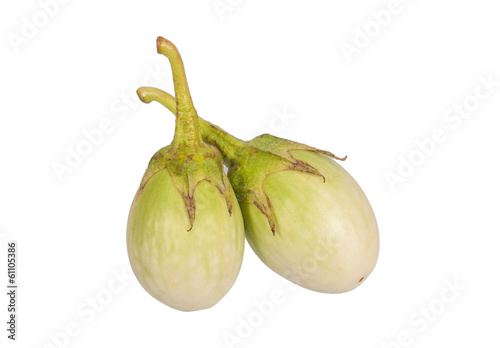 ripe eggplant isolated on white