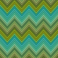 seamless multicolor green horizontal fashion chevron pattern
