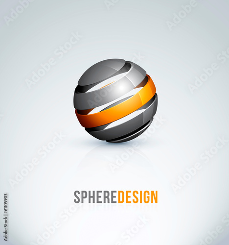 logo design sphere ball