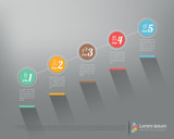 Modern business step by step infographics Vector design template