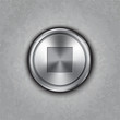Vector round metal stop button