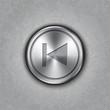 Vector round metal backward rewind button