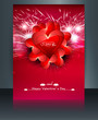 Beautiful brochure card for valentine's day heart wedding templa
