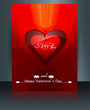 Valentine's day brochure card for heart wedding template card re