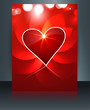 Valentine's day for brochure template heart background colorful