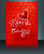 Vector illustrations Valentine's day for brochure template heart