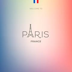 World Cities labels - Paris. Vector Eps10 illustration.