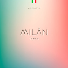 World Cities labels - Milan. Vector Eps10 illustration.