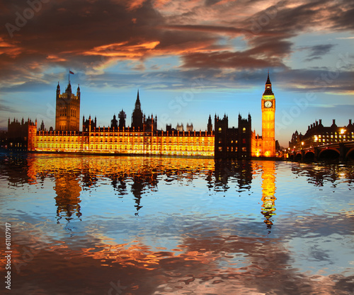 Big Ben in the evening, London, England