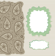 Vintage Paisley Strip lace.Design template,artwork