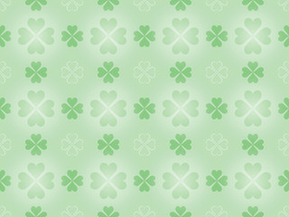 seamless pattern with four leaf shamrock