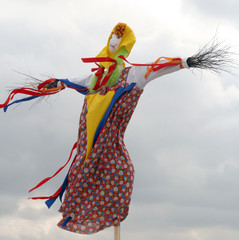 Effigy Maslenitsa before burning (Maslenitsa - traditional celeb