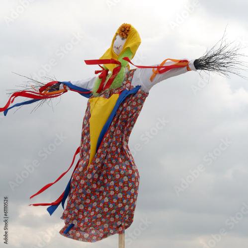 Fotobehang Carnaval Effigy Maslenitsa before burning (Maslenitsa - traditional celeb