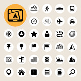 Fototapety Map and Location Icons set