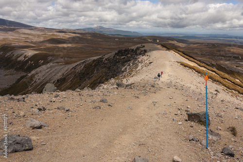 walkers on track in Tongariro National Park
