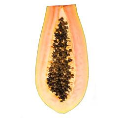Papaya isolated on white