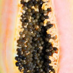Papaya closeup. Background
