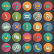 Different flat Icons for Web and Mobile Application