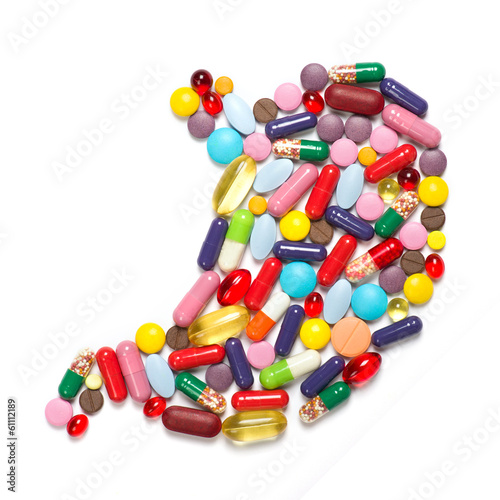 stomach made ​​of tablets
