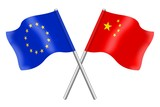 Flags : duet Europe and China