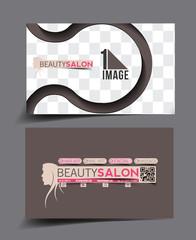 Beauty Care & Salon Business Card Mock up Design