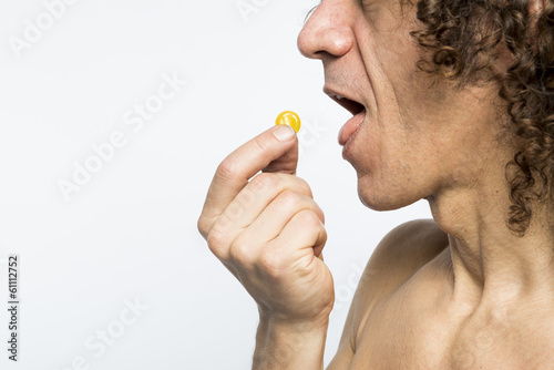 Man taking pill